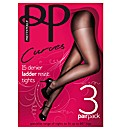 Pretty Polly Curves 10 Denier Tights Pk6