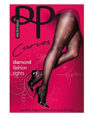 Pretty Polly Curves Dot Diamond Tights