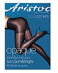 Aristoc Black Opaque Low Leg Tone Tights