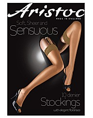 Aristoc Lace Top Stockings Pk2