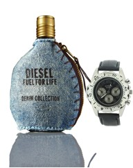 Diesel Fuel for Life Demin 75ml + Watch