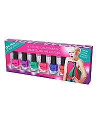 Nail Varnish Pack of 6 Gloss Brights