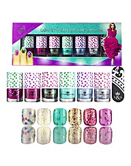 6 Piece Confetti Effect Nail Set