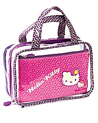 Hello Kitty Vintage Floral Cosmetic Bags