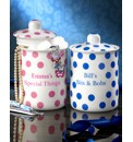 Personalised Polka Dots Storage Pots