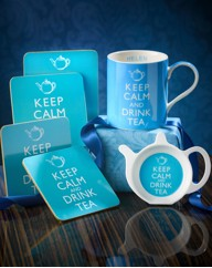 Personalised Keep Calm Drink Tea Set