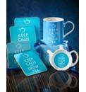Personalised Keep Calm Drink Tea Set
