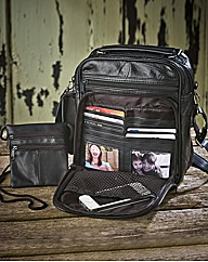 Leather Organiser Bag & Travel Wallet