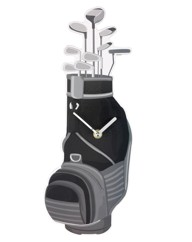 Golf Bag Wall Clock