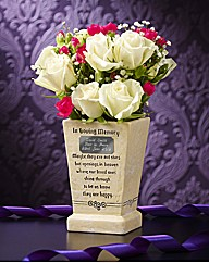 Personalised Graveside Memorial Pot