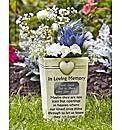 Personalised Graveside Memorial Pot