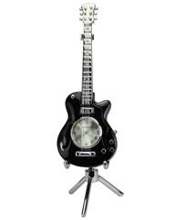 Personalised Minature Black Guitar Clock