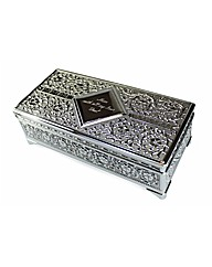 Personalised Silver Plated Trinket Box