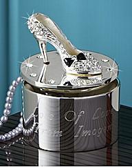 Personalised Diamante Encrusted Shoe Box