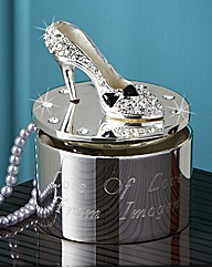 Personalised Diamante Encrusted Shoe Box