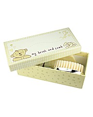 Personalised Button Corner Brush & Comb