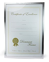 Silver Colour Surround Certificate Frame