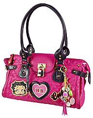 Betty Boop Show Off Pink Quilted Bag