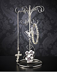 Glass Butterfly Jewellery Holder