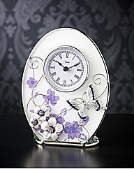 Glass Butterfly Clock