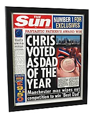The Sun Personalised Front Page Framed