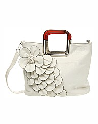 White Flower Shoulder Bag
