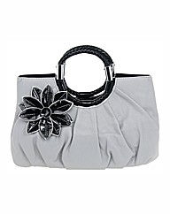 Shallow Grey Daisy Bag