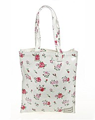Large Pink Floral Tote Bag