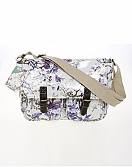 V&A Blue Floral Saddle Bag