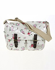 Pink Floral Saddle Bag