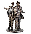Laurel & Hardy Bronzed Figurine