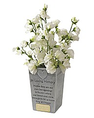 Graveside Memorial Pot Personalised