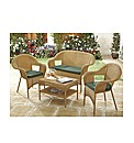 Garden Rattan Furniture Cushion Set