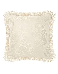 Damask Filled Cushions Pair
