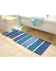 Stripe Cotton Bathmat Set