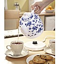 Ceramic Kettle Blue White