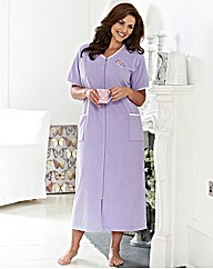 SHORT SLEEVED VELOUR GOWN 42