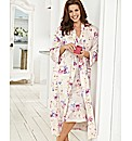 Floral Wrap Gown 48in