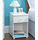 Aspen Bedroom Furniture 1 Drawer Cabinet