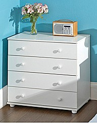 Aspen Bedroom Furniture 4 Drawer Chest