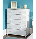 AspenBedroomFurniture 4 plus 2Drwr Chest