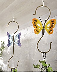Butterfly Hanging Basket Hooks Pack 2