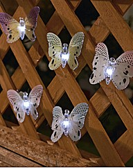 Fibre Optic Butterfly Lights Set 12