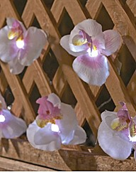 Solar Fairy Lights Orchid Design