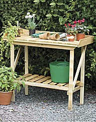 Timber Potting Bench with Shelf