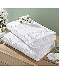 Sculpted Bath Sheet Buy One Get One Free