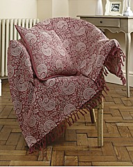 Paisley Jacquard Cotton Throwover