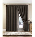 Chenille Spot Thermal Lined Curtains