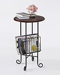 Occasional Table with Magazine Rack