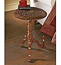 Sheesham Carved Side Table